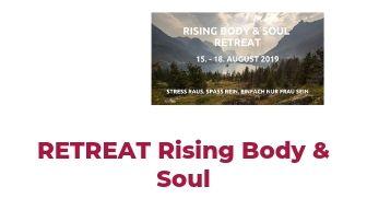 Finde Entspannung und Fitness bei dem Retreat von Aerialistic Body & Soul und Rising High