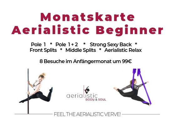 Anfänger Kurs Poledance Aerial Yoga Stretching in Wien günstig