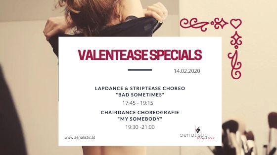 Valentinstag Workshops, Lapdance, Striptease, Choreografie Chairdance Wien 2020